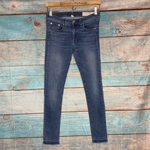 Rag and Bone Blue Jeans Skinny Ankle Size 27
